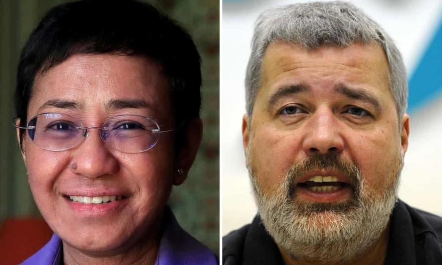 Hai nhà báo nhận Giải Nobel Hòa bình 2021