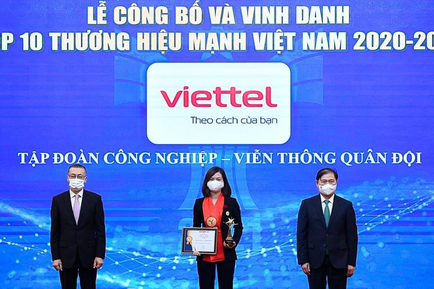 Viettel được công nhận là thương hiệu hàng đầu Việt Nam