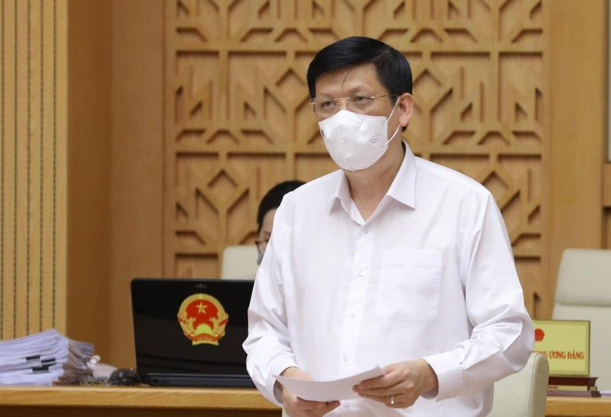 Bộ trưởng Bộ Y tế Nguyễn Thanh Long phát biểu tại cuộc họp Chính phủ thường kỳ sáng 5/5.
