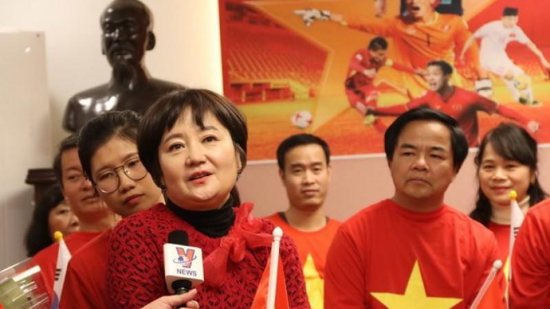 Vợ HLV Park Hang-seo: 'Ông xã và các chàng trai hãy cố lên!'
