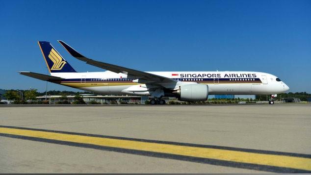 Máy bay Airbus A350-900 ULR của Singapore Airlines. Ảnh: CNN.