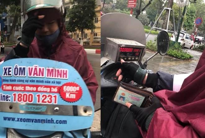 """Tài xế xe ôm Văn Minh, người bị tố đã """"chặt chém"""" 500.000 đồng cho đoạn đường dài khoảng 10km (Ảnh: Nhân vật cung cấp)"""
