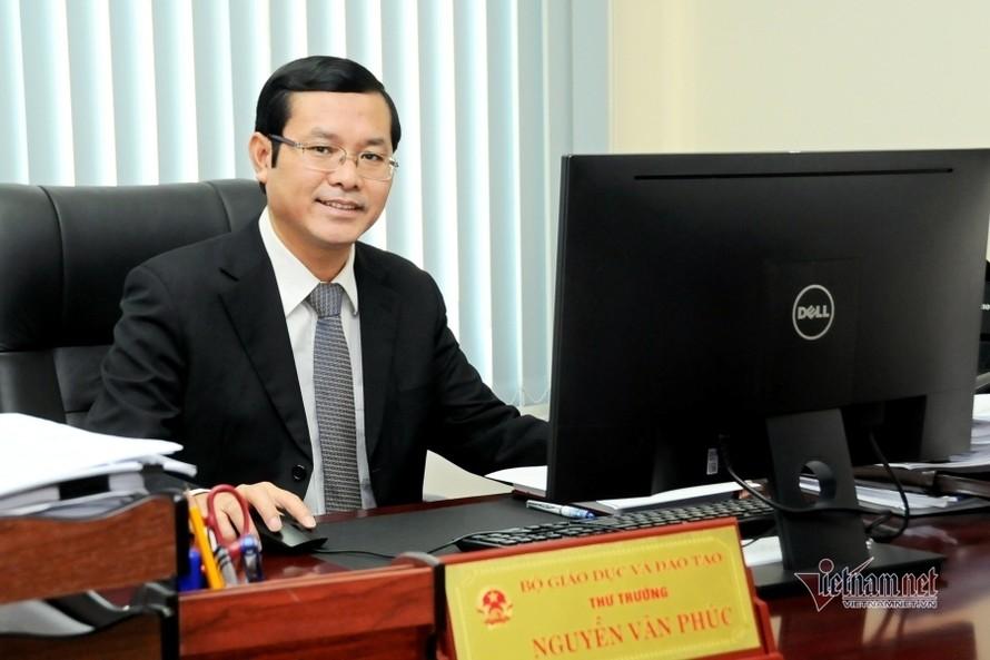 Thứ trưởng Bộ GD-ĐT Nguyễn Văn Phúc. Ảnh: MOET