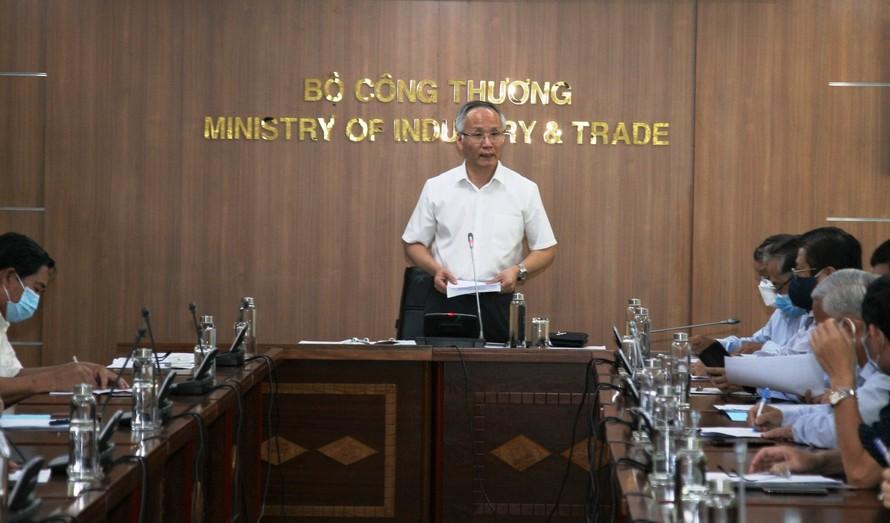Thứ trưởng Bộ Công Thương Trần Quốc Khánh phát biểu. Ảnh: VGP/Băng Tâm