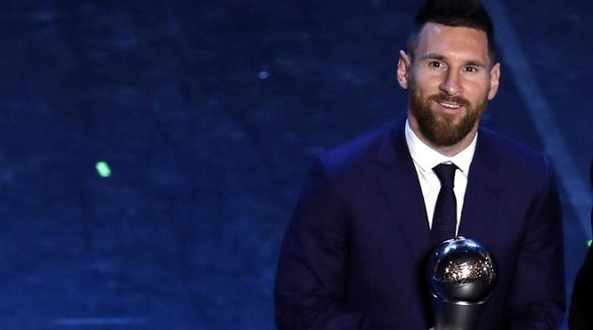"""Messi là chủ nhân của danh hiệu """"The Best"""" do FIFA trao tặng năm 2019. Ảnh: Marca"""