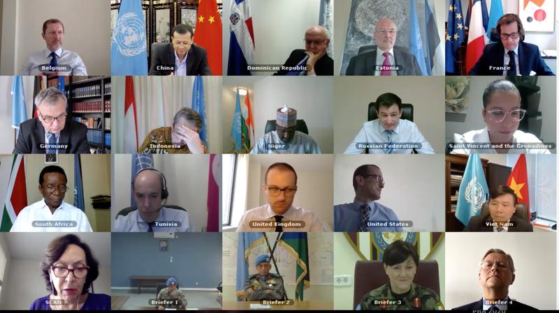 Họp Hội đồng Bảo an về hoạt động gìn giữ hòa bình của Liên Hợp Quốc ứng phó với đại dịch Covid-19.