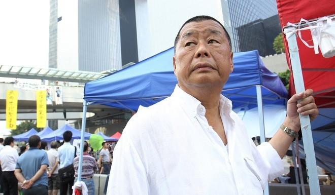 Jimmy Lai Chee-ying, nhà sáng lập báo Apple Daily. Ảnh: SCMP.