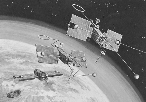 Mô phỏng quá trình rơi của OGO-1. Ảnh: NASA.