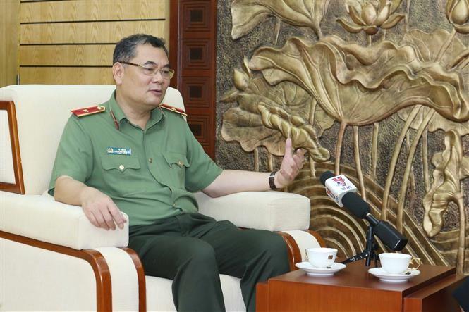 Thiếu tướng Tô Ân Xô, Chánh Văn phòng, Người phát ngôn Bộ Công an trả lời phỏng vấn TTXVN.