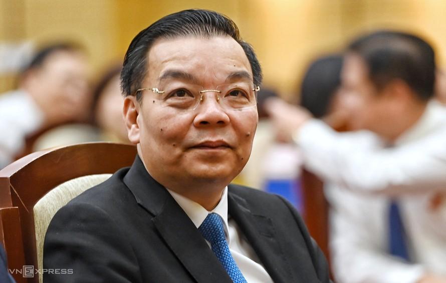 Ông Chu Ngọc Anh tại kỳ họp HĐND TP Hà Nội sáng 25/9. Ảnh: Giang Huy.