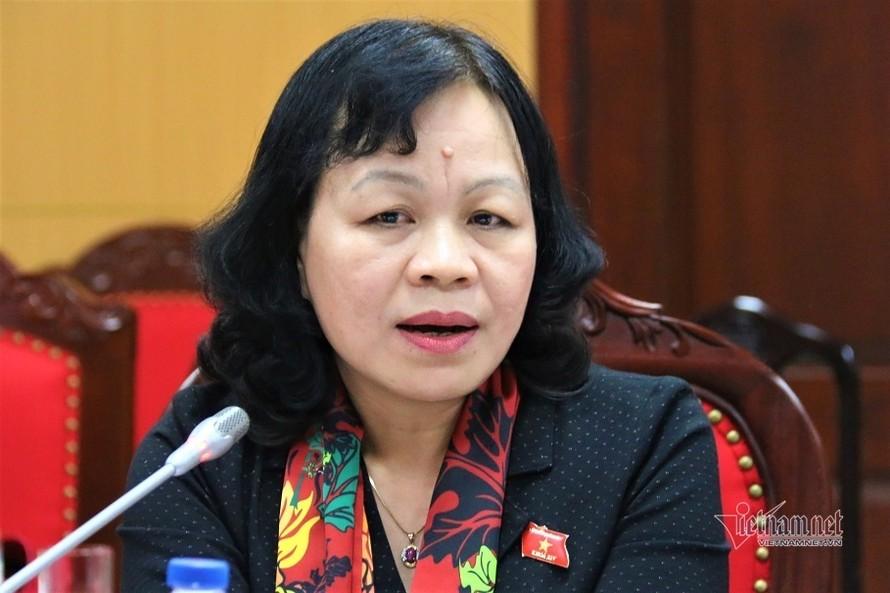 Bà Nguyễn Thị Mai Hoa, Ủy viên Thường trực Ủy ban Văn hóa, Giáo dục, Thanh niên, Thiếu niên và Nhi đồng của Quốc hội. Ảnh: Thanh Hùng
