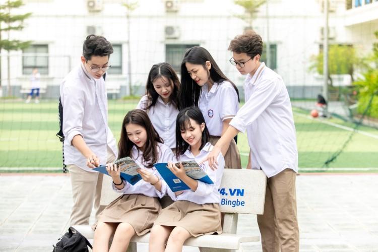 Học sinh Trường THCS-THPT Ban Mai, Hà Nội. Ảnh: Nguyễn Nhung
