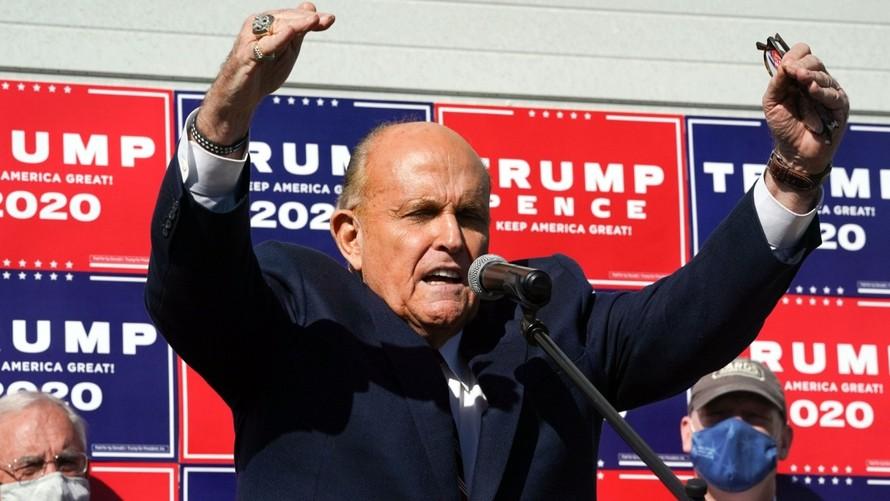 Luật sư Rudy Giuliani của Tổng thống Trump. Ảnh: AFP