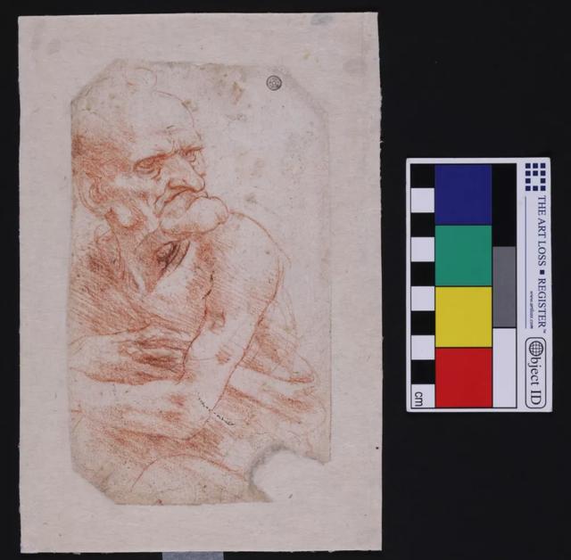 """Đây là bức """"Uomo della Bitta"""" của Leonardo Da Vinci, một trong sáu bức vẽ của ông gần đây được phát hiện các vi sinh vật phức tạp."""