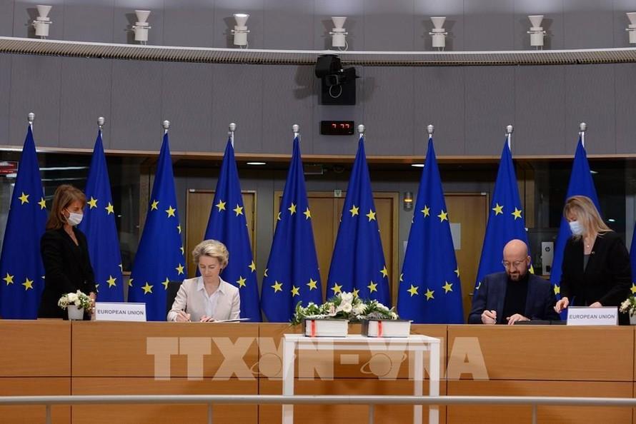 Anh và EU ký 'Hiệp định thương mại và hợp tác' lịch sử hậu Brexit