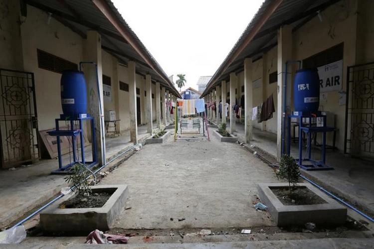 Trại tị nạn Lhokseumawe tại tỉnh Aceh (Indonesia) trở nên vắng vẻ. Ảnh: AFP