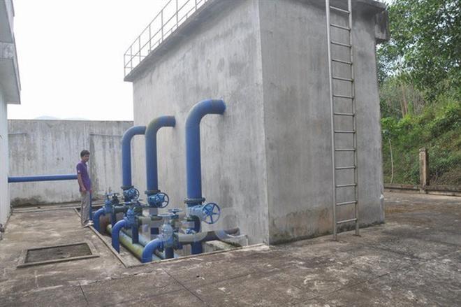 Bể xử lý nước của Nhà máy nước Bình Tường - Vĩnh An.