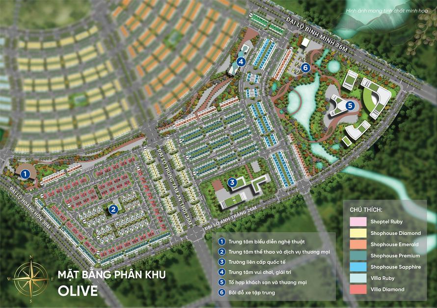 Olive sở hữu lợi thế lớn về giao thông khi chỉ cách sân bay 15 phút di chuyển và được bao quanh bởi các tuyến đường lớn từ 26 – 36m