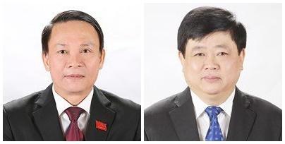 Ông Nguyễn Đức Lợi (ảnh trái) thôi giữ chức vụ Tổng Giám đốc Thông tấn xã Việt Nam và ông Nguyễn Thế Kỷ (ảnh phải) thôi giữ chức vụ Tổng Giám đốc Đài Tiếng nói Việt Nam từ 1/6/2021