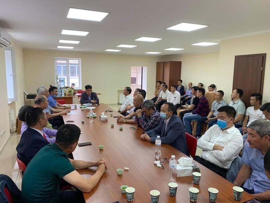 Toàn cảnh buổi họp chuẩn bị khai trương Văn phòng Lãnh sự danh dự tại Odessa.