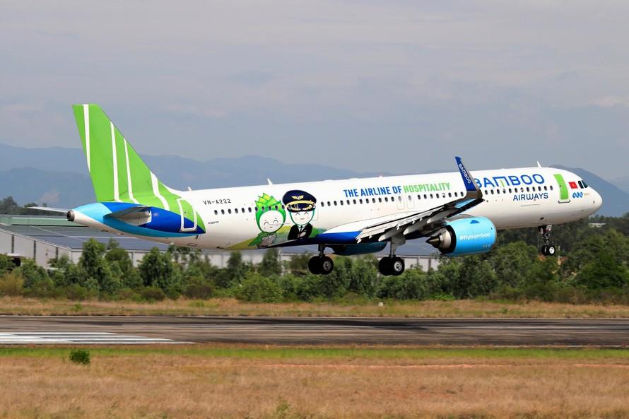 Bamboo Airways sẽ thực hiện chuyến bay chở người dân Bình Định từ TP HCM về quê bằng máy bay Airbus. Ảnh: Nguyễn Thành Giáp
