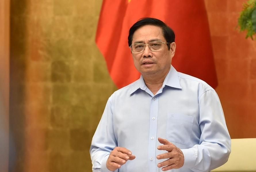 Thủ tướng Phạm Minh Chính: Chúng ta đã hy sinh để thực hiện giãn cách, phong tỏa thì dứt khoát phải kiểm soát được tình hình - Ảnh: VGP/Nhật Bắc