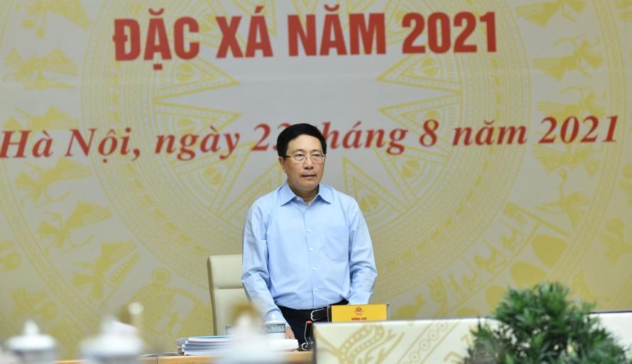 Phó Thủ tướng Chính phủ Phạm Bình Minh, Chủ tịch Hội đồng Tư vấn đặc xá 2021. Ảnh: VGP/Hải Minh