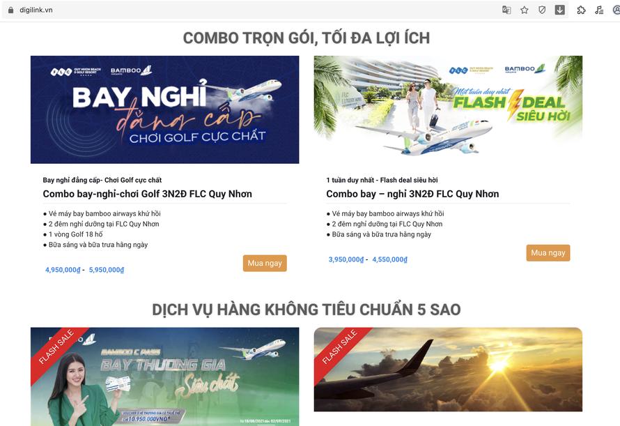 DigiLink - Sàn thương mại điện tử đầu tiên dành riêng cho các sản phẩm du lịch - nghỉ dưỡng tại Việt Nam