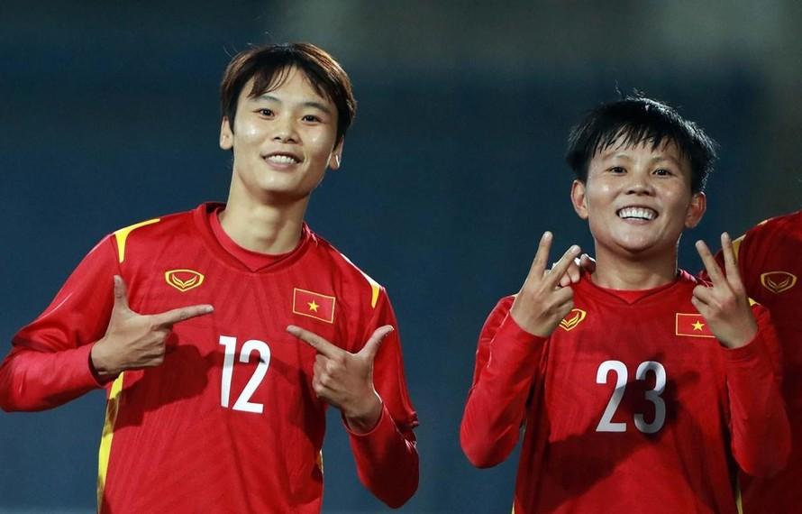 Đội tuyển nữ Việt Nam giành vé dự vòng chung kết Asian Cup 2022. (Ảnh: AFC)