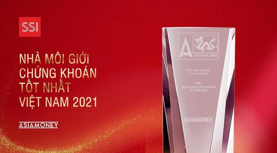 """Giải thưởng """"Nhà môi giới chứng khoán tốt nhất Việt Nam 2021"""" gọi tên chứng khoán SSI"""