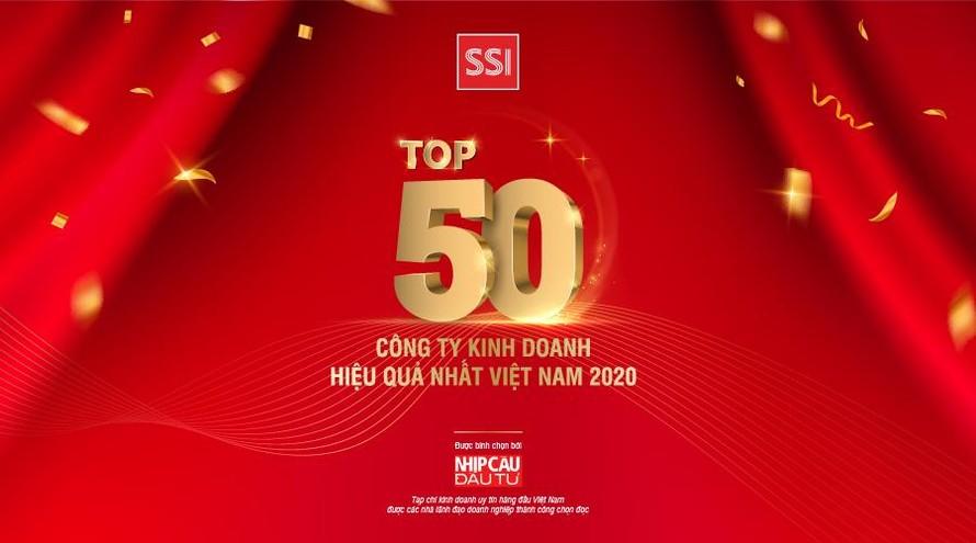 Chứng khoán SSI vinh dự nằm trong top 50 công ty kinh doanh hiệu quả nhất Việt Nam năm 2020