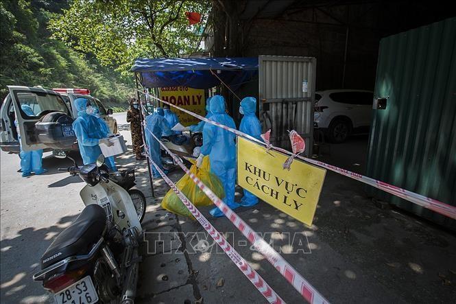 Khu vực quán cơm Ngọc Bích tại TP Hòa Bình bị phong tỏa sau khi phát hiện ca dương tính với Covid