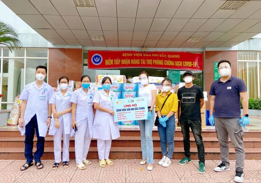 Quyên góp bỉm, sữa cho trẻ em đang cách ly tại Bắc Ninh – Bắc Giang