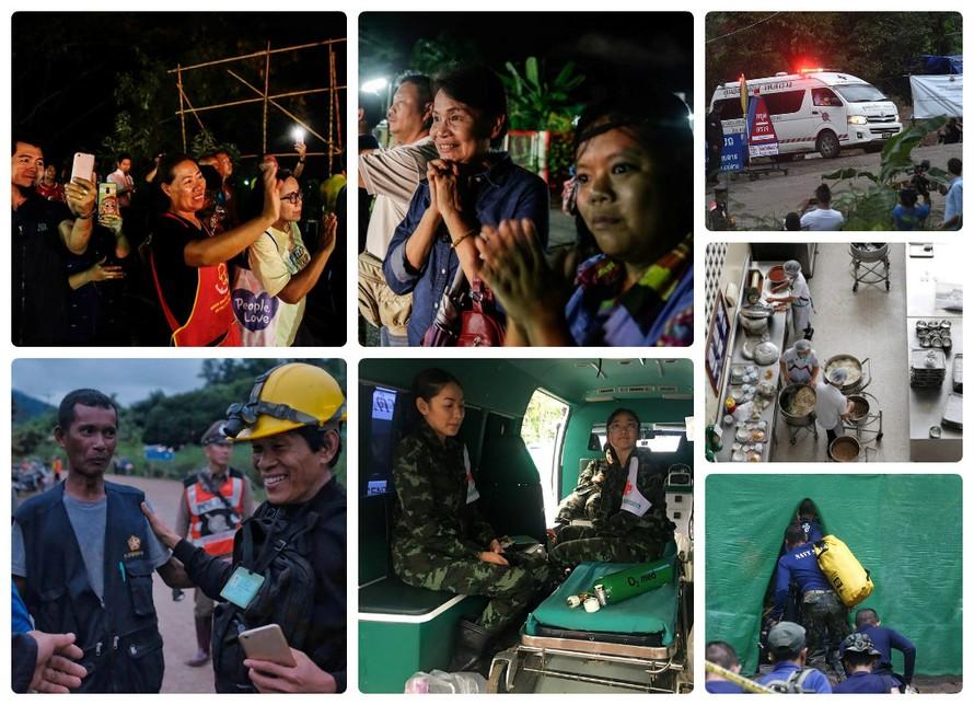Những hình ảnh về công cuộc giải cứu đội bóng Thái Lan.