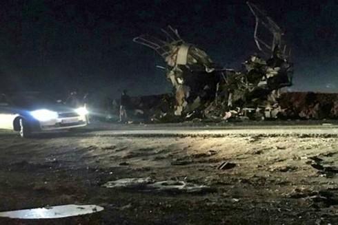 Hiện trường vụ đánh bom ngày 13/2 ở Iran. Ảnh: Getty
