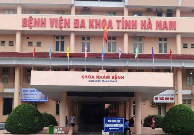 BV đa khoa tỉnh Hà Nam, nơi xảy ra vụ việc.
