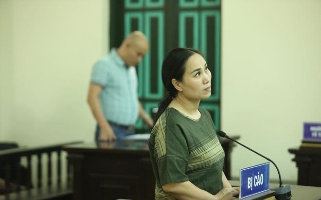 Bị cáo Nguyễn Thị Vân tại phiên xét xử 10/4.