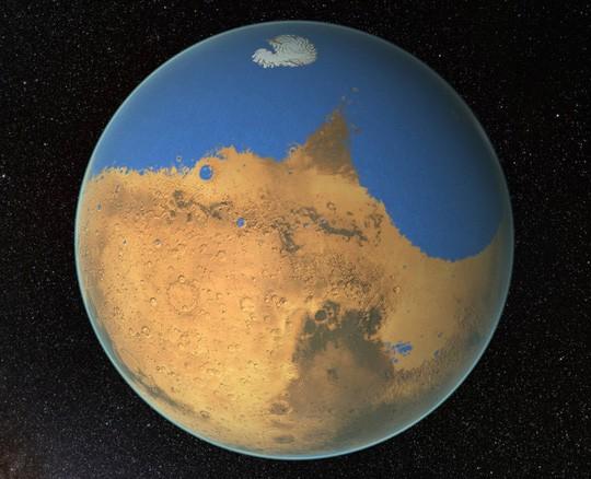 Sao Hỏa quá khứ - ảnh đồ họa của NASA