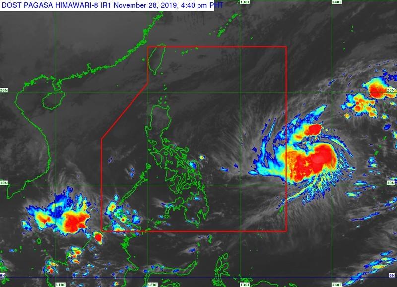 Áp thấp nhiệt đới biến thành siêu bão Kammuri đang di chuyển vào Philippines.