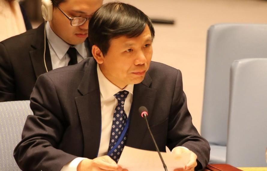 Đại sứ Đặng Đình Quý, Trưởng Phái đoàn đại diện thường trực Việt Nam tại Liên hợp quốc. (Ảnh: TTXVN)