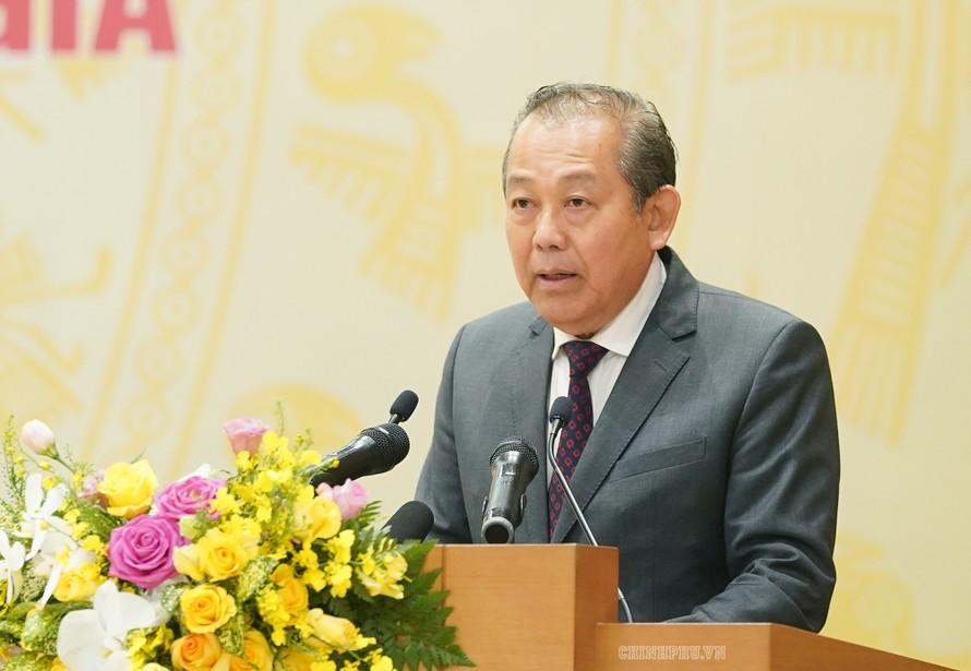 Phó Thủ tướng Trương Hòa Bình phát biểu tại hội nghị. - Ảnh: VGP/Quang Hiếu