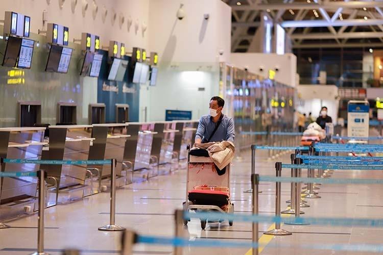 Sân bay quốc tế Đà Nẵng vắng khách. - Ảnh: Vnexpress