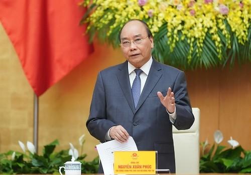 Thủ tướng Nguyễn Xuân Phúc phát biểu tại phiên họp - Ảnh: VGP/Quang Hiếu