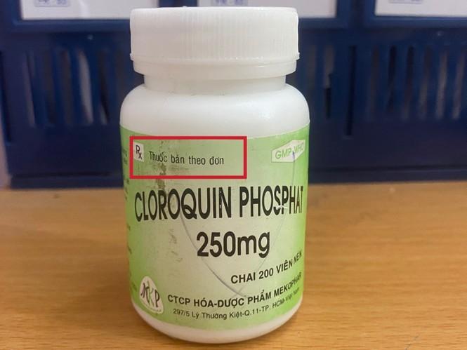 Chloroquine là thuốc bán theo đơn, thuộc nhóm thuốc độc bảng B