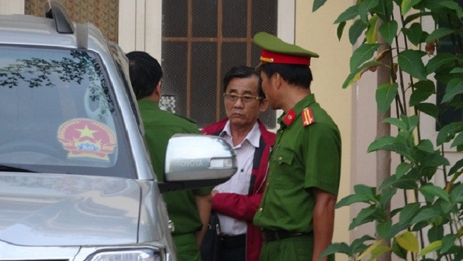Bị can Đỗ Ngọc Điệp - nguyên chủ tịch UBND TP Phan Thiết lúc bị khởi tố - Ảnh: Tuổi Trẻ