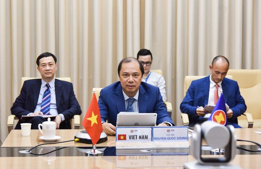 Thứ trưởng Nguyễn Quốc Dũng, Trưởng SOM ASEAN Việt Nam tham dự Đối thoại - Ảnh: BNG