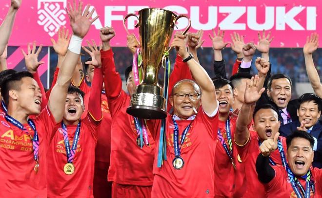 Tuyển Việt Nam sẽ có nhiều lợi thế để bảo vệ ngôi vương nếu AFF Cup 2020 diễn ra trên sân nhà. - Ảnh: Zing.vn