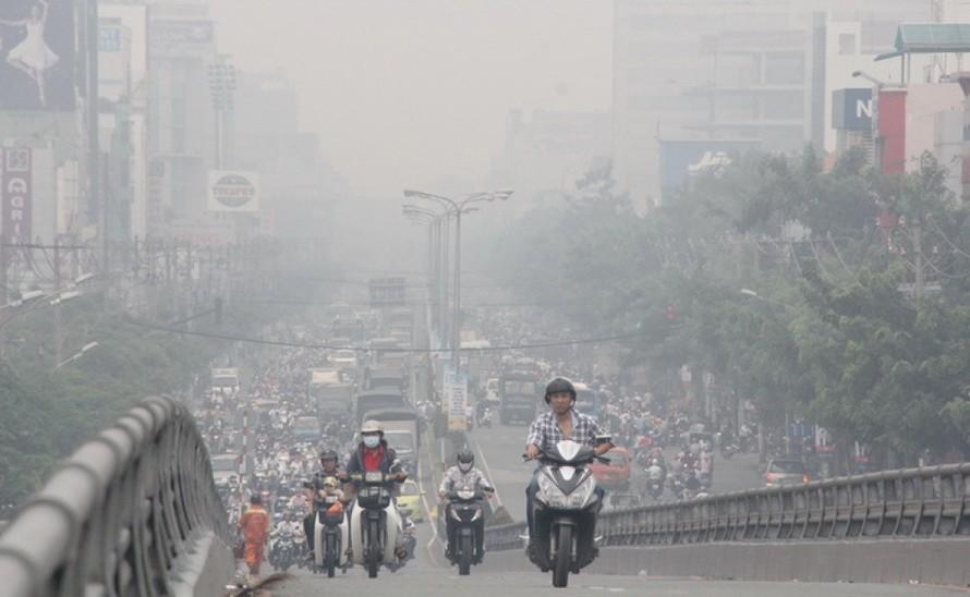 Ô nhiễm không khí ở Hà Nội lại vượt lên mức nguy hại