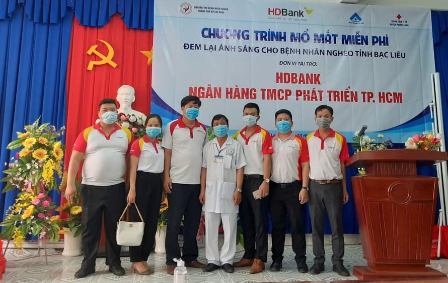 """HDBank tiếp tục hành trình """"đem lại ánh sáng cho người nghèo bị đục thủy tinh thể"""" cho gần 200 bệnh nhân tỉnh Bạc Liêu"""