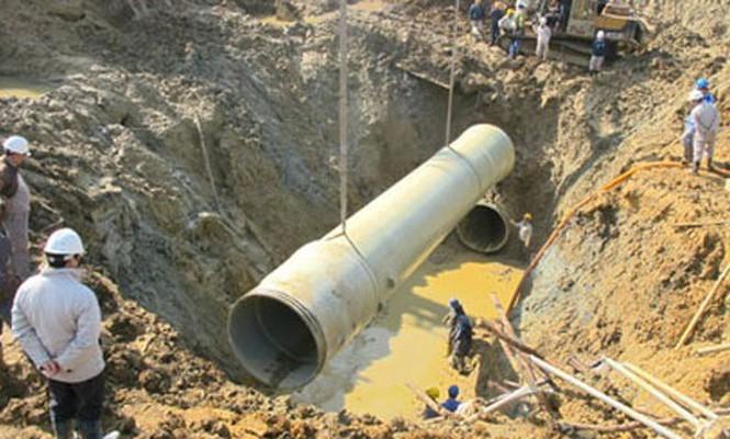 Đường ống nước sông Đà gặp sự cố thứ ba chỉ trong 1 tháng